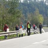 Úklid břehu přehrady Křetínky