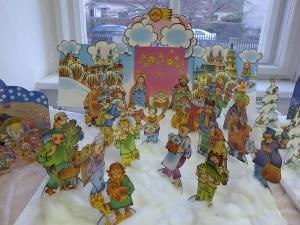 Vánoce v knihovně - betlém